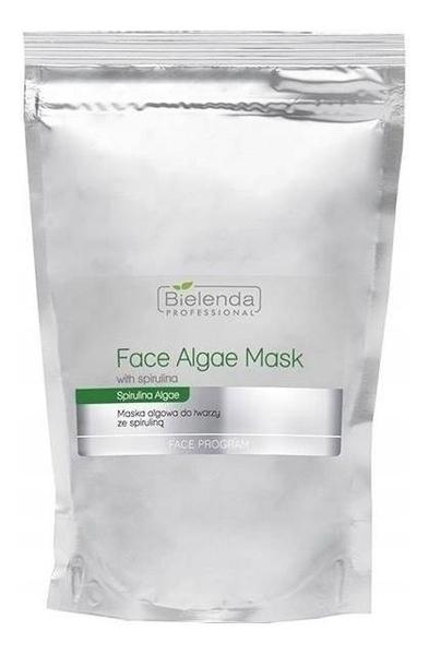 Купить Альгинатная маска для лица со спирулиной Face Program Face Algae Mask Spirulina: Маска 190г (запасной блок), Bielenda Professional