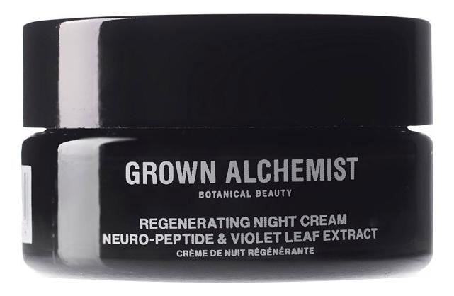 Ночной восстанавливающий крем для лица Нейро-пептид и фиалка Regenerating Night Cream Neuro-Peptide & Violet Leaf Extract 40мл
