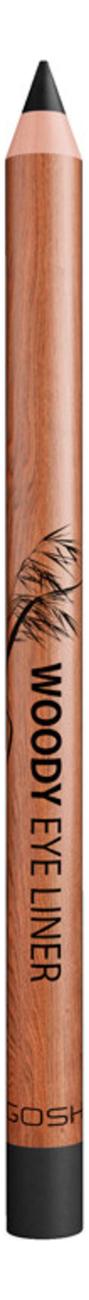 Карандаш для глаз Woody Eye Liner 1,1г: 001 Ebony Black gosh 24h pro liner