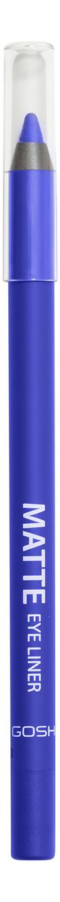 Карандаш для глаз Matte Eye Liner 1,2г: 008 Crazy Blue gosh 24h pro liner