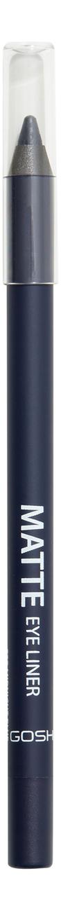 Карандаш для глаз Matte Eye Liner 1,2г: 009 Midnight Blue gosh 24h pro liner