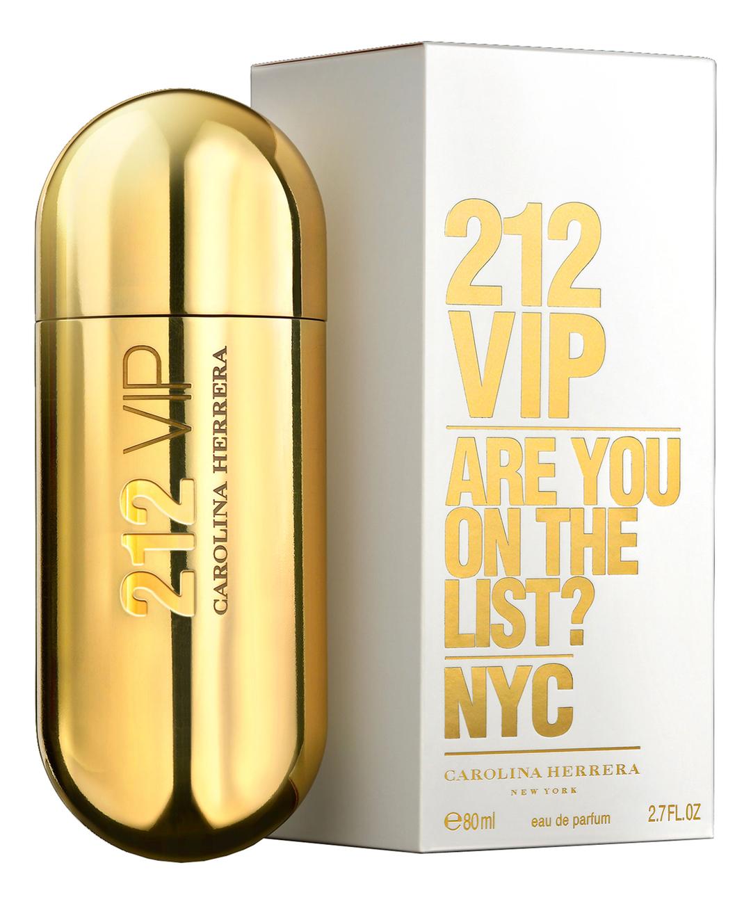 цена Carolina Herrera 212 VIP Woman: парфюмерная вода 80мл онлайн в 2017 году