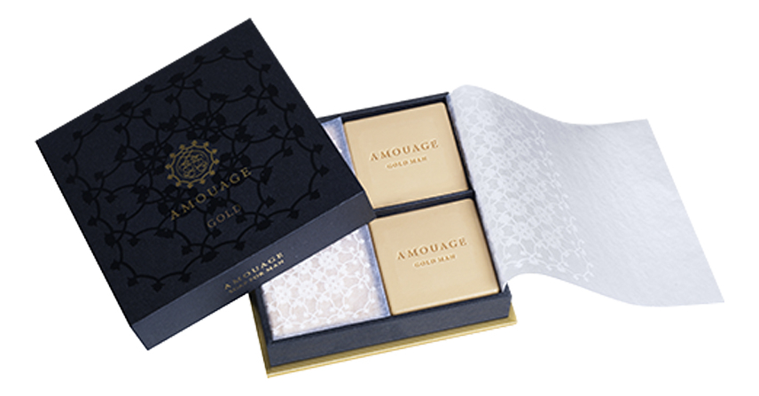 Amouage Gold For Men: мыло 4*50г