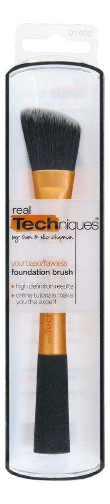 Купить Кисть для тона Foundation Brush, Real Techniques