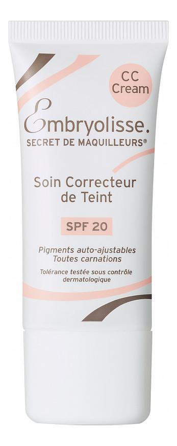 CC крем Цветокоррекция тона кожи Secret de Maquilleurs Soin Correcteur de Teint SPF20 30мл embryolisse cc крем