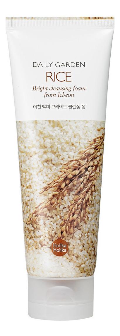 Очищающая пенка для лица Daily Garden Icheon Rice Bright Cleansing Foam 120мл (рис)
