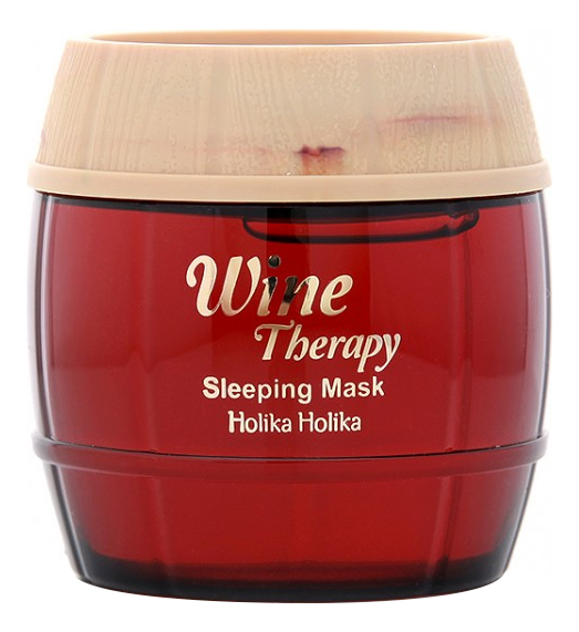 Купить Ночная винная маска-желе для лица Wine Therapy Sleeping Mask Red Wine 120мл (красное вино), Holika Holika