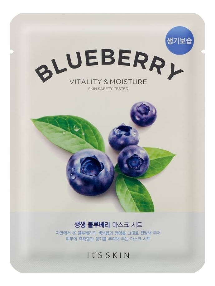 Фото - Тканевая маска для лица с экстрактом черники The Fresh Mask Sheet Blueberry 20мл тканевая маска для лица с экстрактом лотоса 0 2 therapy air mask lotus 20мл