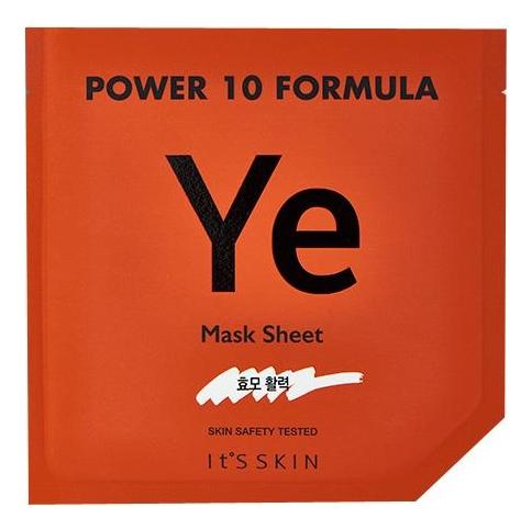 Тканевая маска для лица с экстрактом коричневого риса Power 10 Formula YE Mask Sheet 25мл it s skin power 10 formula ye