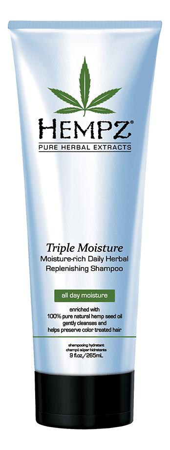 Купить Шампунь тройное увлажнение Triple Moisture Replenishing Shampoo 265мл: Шампунь 265мл, Шампунь для волос Тройное увлажнение Triple Moisture Replenishing Shampoo, Hempz