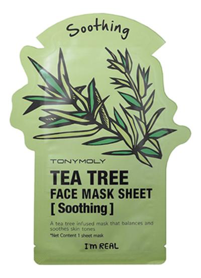 Купить Тканевая маска для лица с экстрактом чайного дерева I'm Real Tea Tree Mask Sheet 21мл, Tony Moly