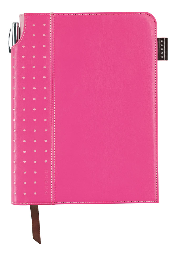 Записная книжка Journal Signature A5 (250 страниц в линейку + ручка) розовая