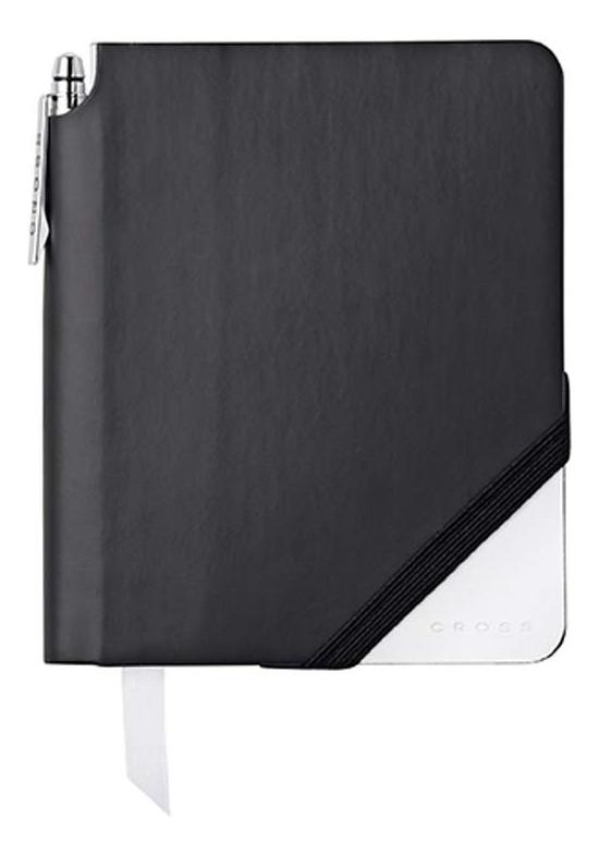 Записная книжка Jot Zone A6 (160 страниц в линейку + ручка) черно-белая