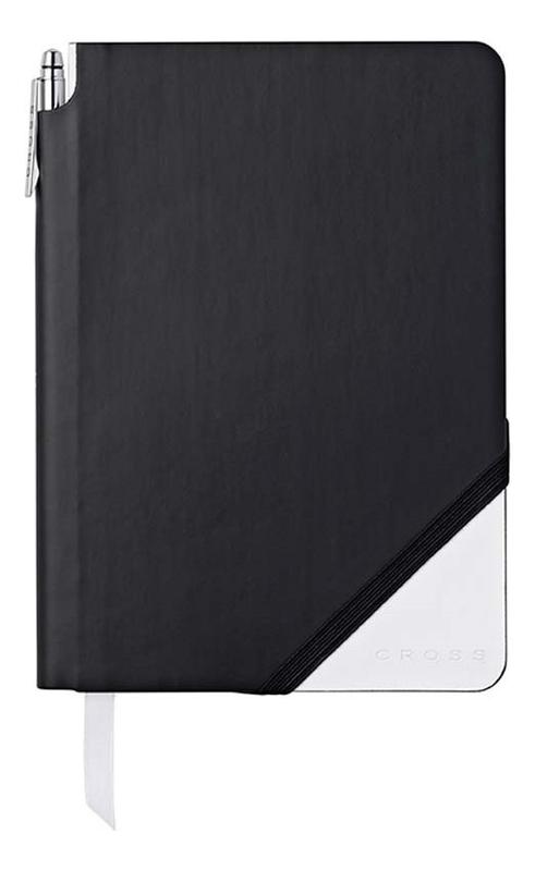 Записная книжка Jot Zone A5 (160 страниц в линейку + ручка) черно-белая
