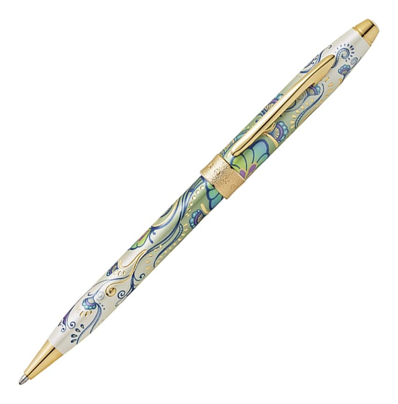 Купить Роллерная ручка Selectip Botanica (зеленая лилия), Cross