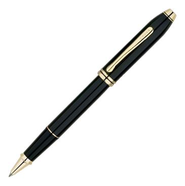 Купить Роллерная ручка Selectip Townsend (черная с позолотой), Cross