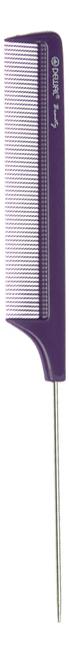 Купить Расческа Beauty с металлическим хвостиком 22см (фиолетовая), Dewal