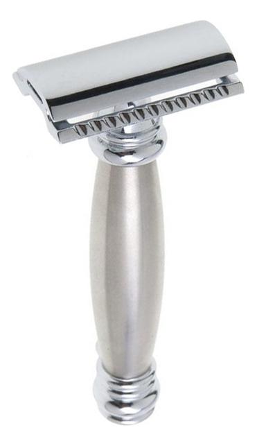 Станок Т-образный Merkur (безопасная бритва с закрытым гребнем) хром, матовая ручка