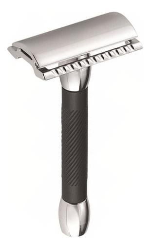 Станок Т-образный Merkur (безопасная бритва с закрытым гребнем) хром, черная ручка