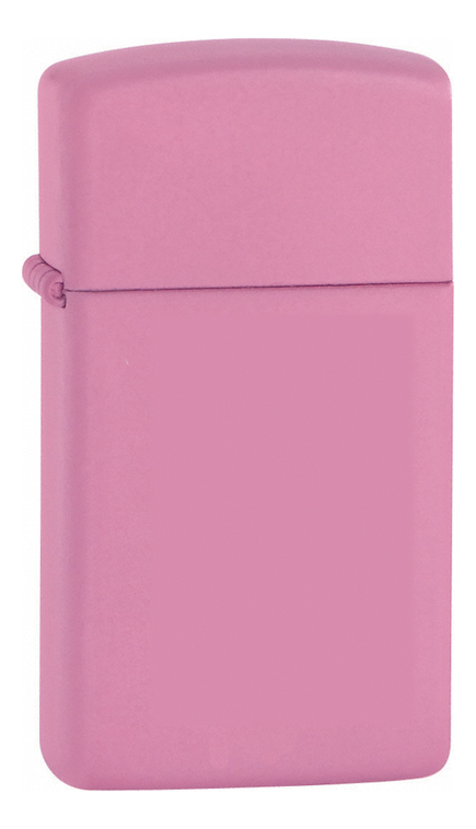 Зажигалка бензиновая Slim (розовая, матовая)