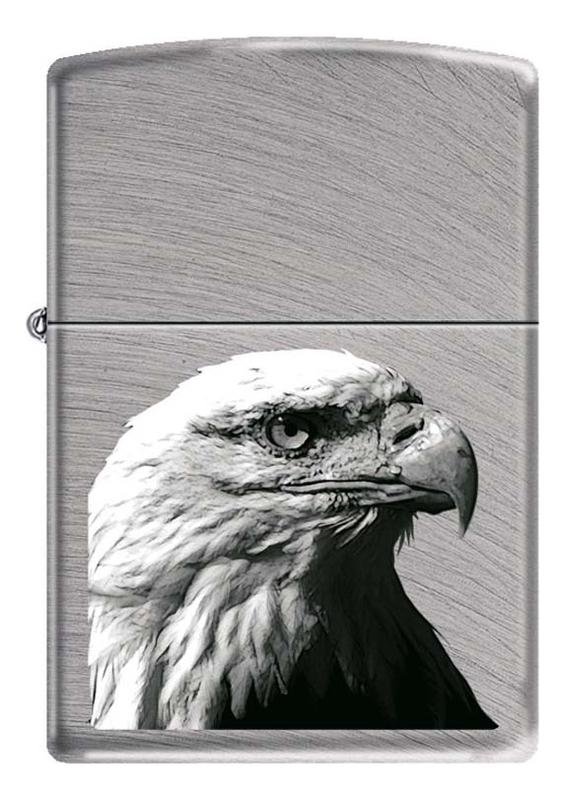 Купить Зажигалка бензиновая Орел (серебристая, матовая), Zippo
