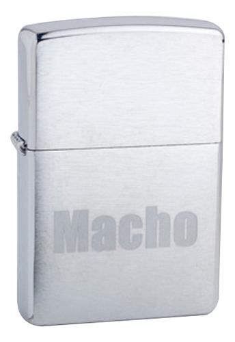 Фото - Зажигалка бензиновая Macho (серебристая, матовая) macho a