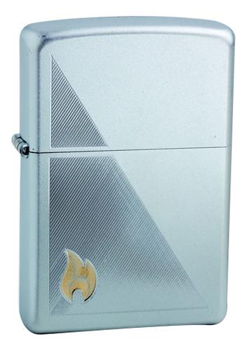 Зажигалка бензиновая Zippo Flame (серебристая)  - Купить