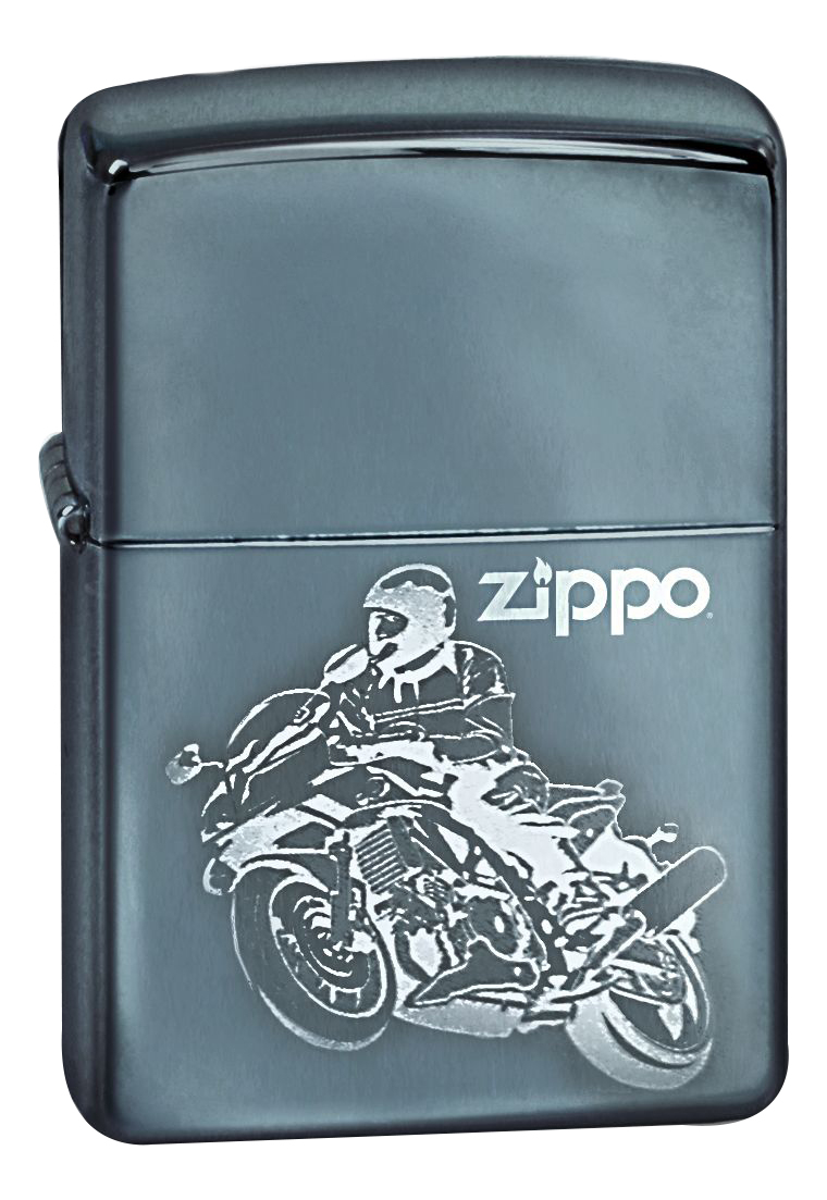 Купить Зажигалка бензиновая Moto (серебристая, глянцевая), Zippo