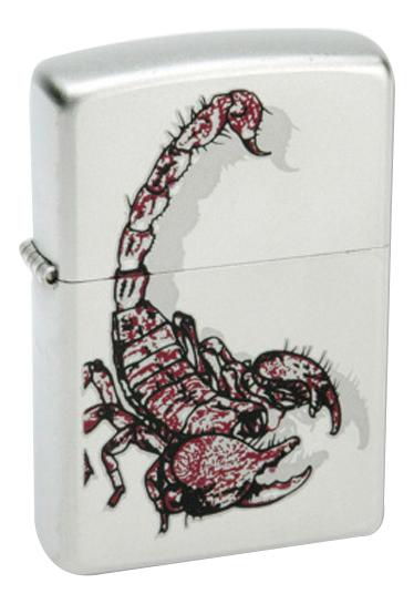 Зажигалка бензиновая Scorpion Color (серебристая)