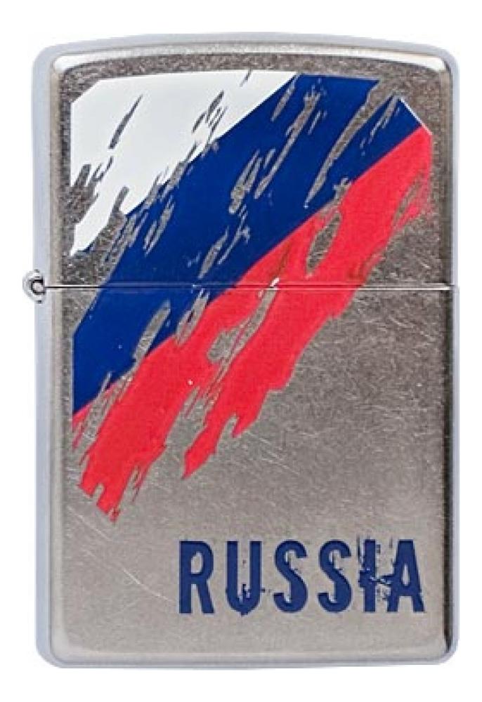 Купить Зажигалка бензиновая Russia Flag 207, Zippo