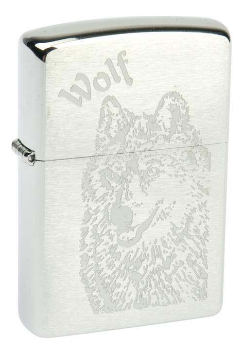 Купить Зажигалка бензиновая Wolf (серебристая, матовая), Zippo