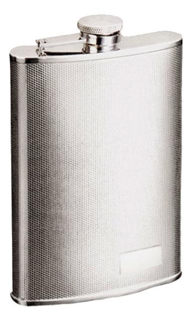 Фото - Фляга 0,27л (серебристая с рисунком) фляга 0 18л серебристая с рисунком шашки