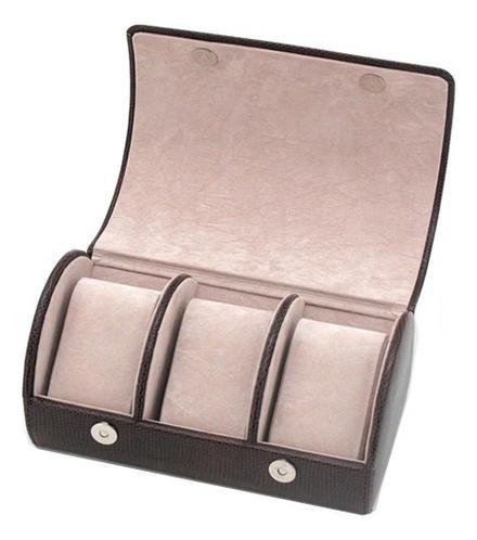 Шкатулка для мужских аксессуаров (коричневая, 3 секции)