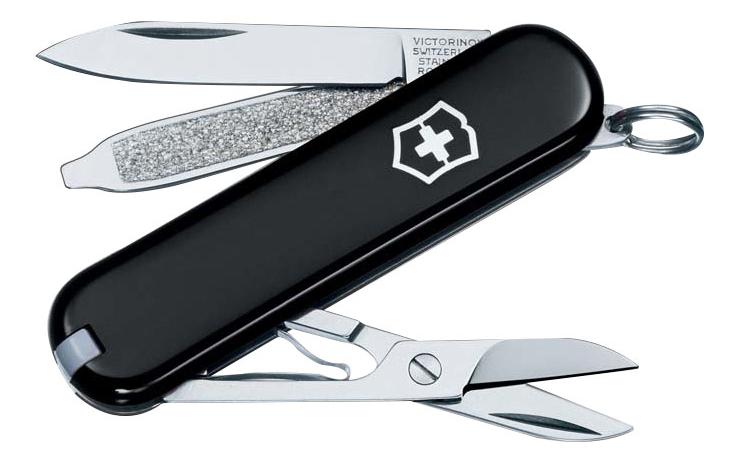 Нож-брелок SD 58мм 7 функций (черный)
