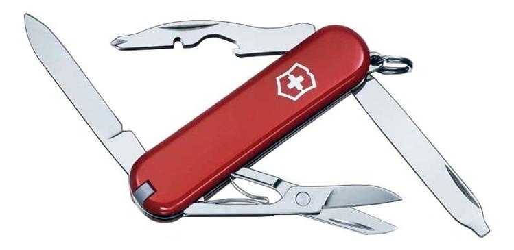 Нож-брелок Rambler 58мм 10 функций (красный) appella 484 1005