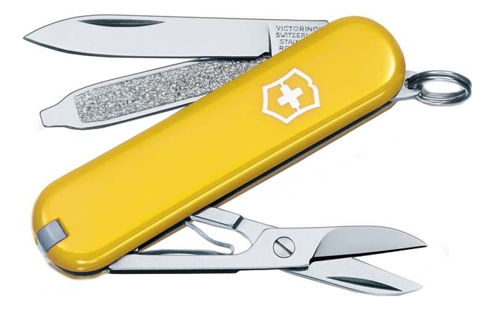 Нож-брелок SD 58мм 7 функций (желтый) appella 484 1005