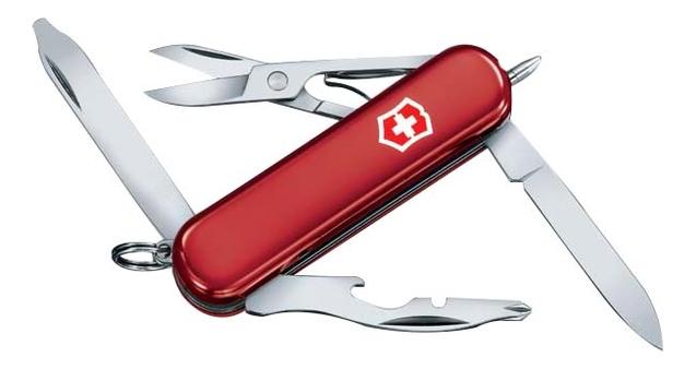 Нож-брелок Midnight Manager 58мм 10 функций (красный) складной нож victorinox manager 10 функций 58мм красный