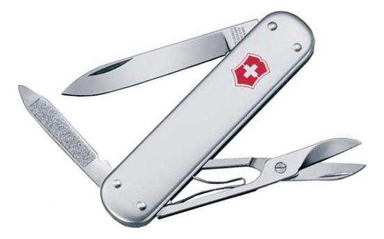 Нож перочинный Money Clip 74мм 5 функций (серебристый)