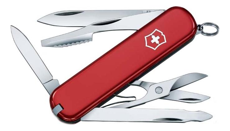 цена на Нож перочинный Executive 74мм 10 функций (красный)