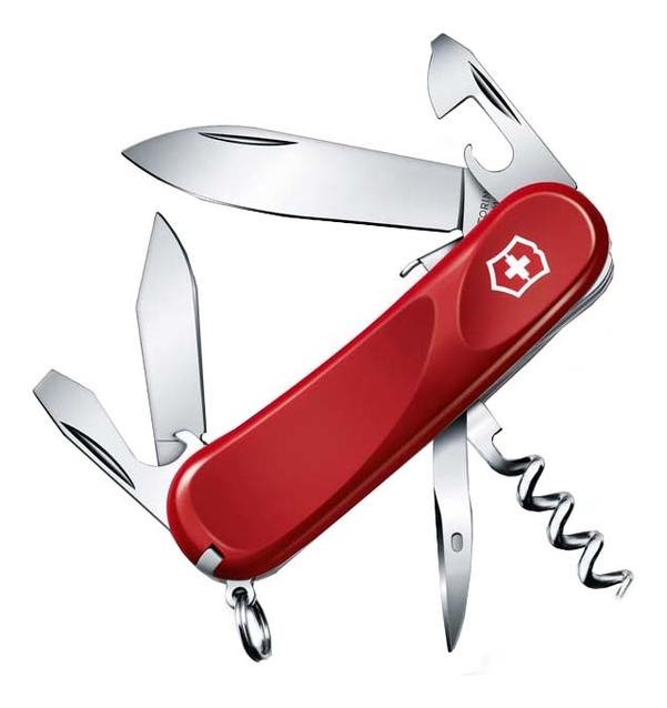Купить Нож перочинный Evolution S101 85мм 13 функций с фиксатором лезвия (красный), Victorinox