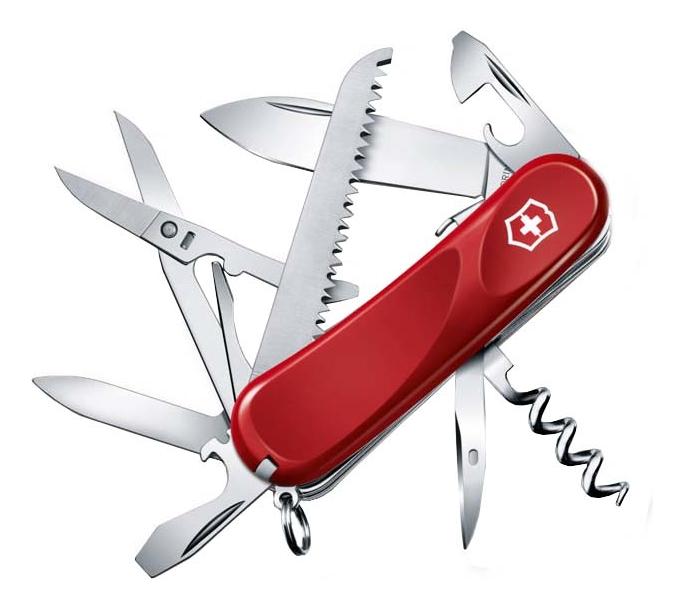 Купить Нож перочинный Evolution S17 85мм 15 функций с фиксатором лезвия (красный), Victorinox