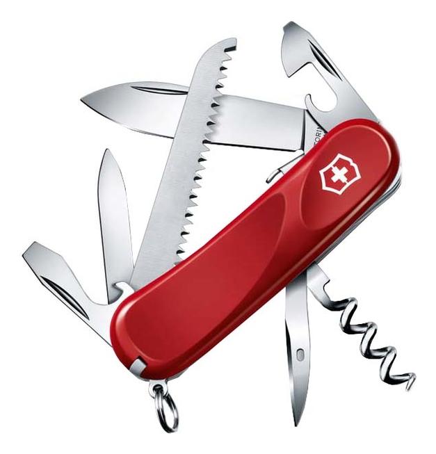 Нож перочинный Evolution S13 85мм 14 функций с фиксатором лезвия (красный) нож перочинный victorinox victorinox evolution s14 красный 85мм