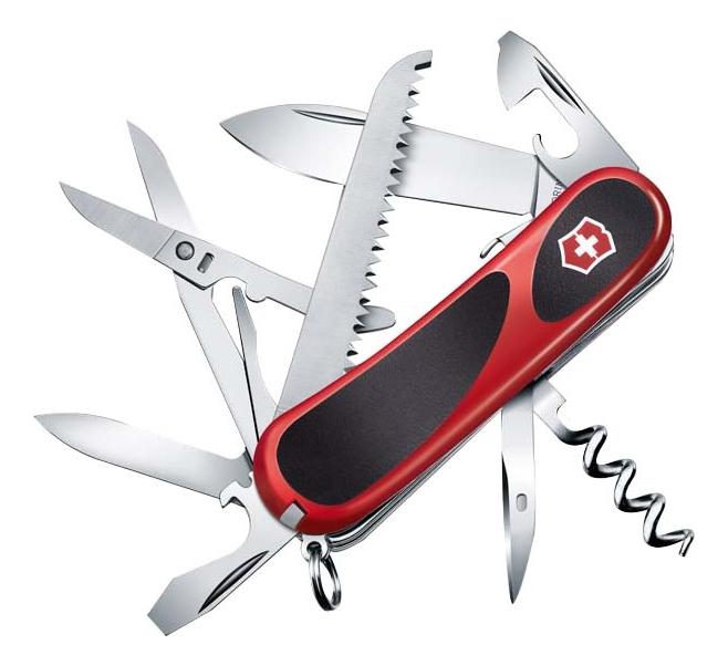 Купить Нож перочинный Evolution S17 85мм 15 функций с фиксатором лезвия (красный с черным), Victorinox