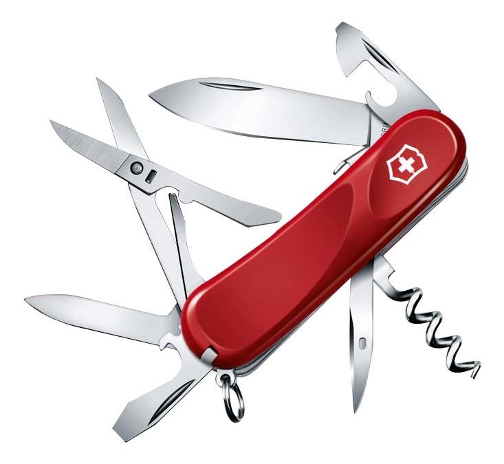 Нож перочинный Evolution S14 85мм 14 функций с фиксатором лезвия (красный) нож перочинный victorinox victorinox evolution s14 красный 85мм