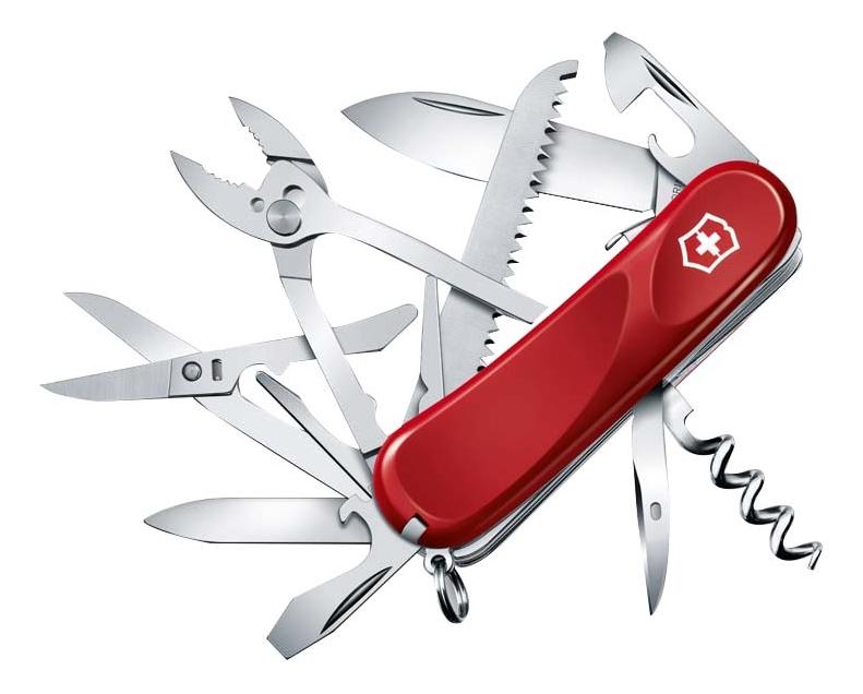 Купить Нож перочинный Evolution S52 85мм 20 функций с фиксатором лезвия (красный), Victorinox