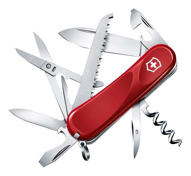 Нож перочинный Evolution 17 85мм 15 функций (красный)