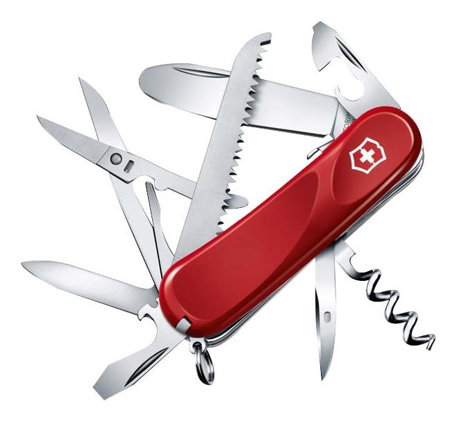 Купить Нож перочинный Junior 03 85мм 15 функций с фиксатором лезвия (красный), Victorinox