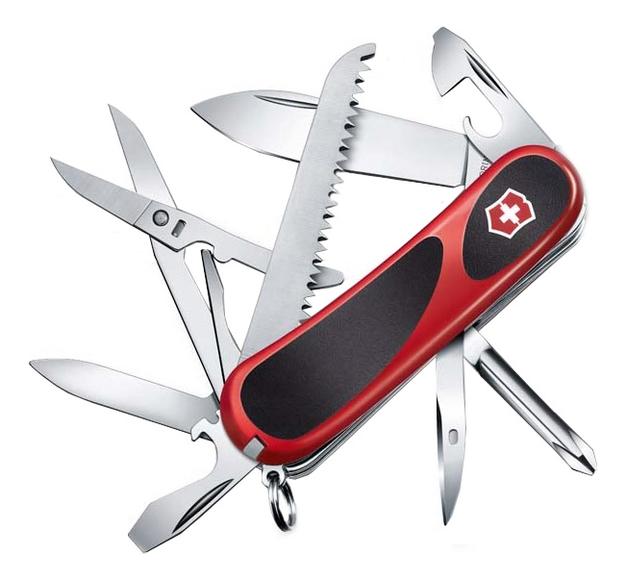 Купить Нож перочинный Evolution 18 85мм 15 функций (красный с черными вставками), Victorinox