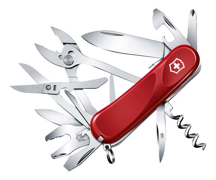 Нож перочинный Evolution S557 85мм 21 функция с фиксатором лезвия (красный) нож перочинный victorinox victorinox evolution s14 красный 85мм