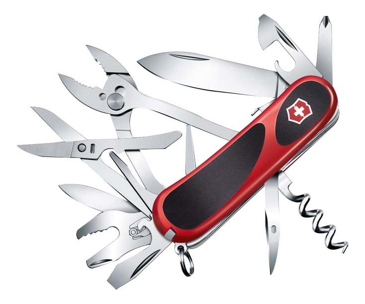 Купить Нож перочинный Evolution S557 85мм 21 функция с фиксатором лезвия (красный с черным), Victorinox